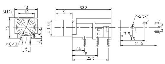 6.35耳机插座 JYCK-33