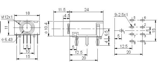 6.35耳机插座 JYCK-310