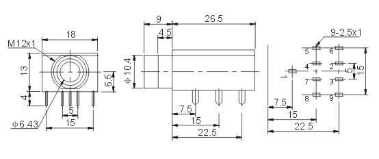 6.35耳机插座 JYCK-312