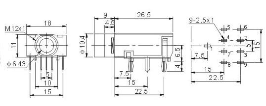 6.35耳机插座 JYCK-313