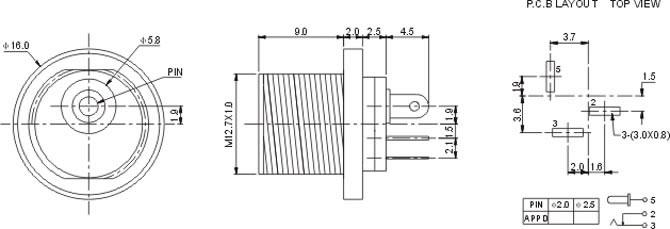 DC插座DC021