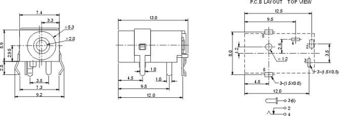 特殊DC插座DC030B